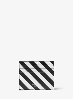 Michael Kors Small Striped Leather Card Case