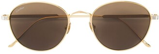 Cartier C de round-frame sunglasses