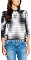 Tommy Hilfiger Women's New Chiara Str PQ LS Polo Shirt,(Manufacturer Size: )
