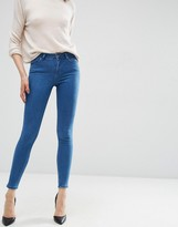 Asos Lisbon Mid Rise Skinny Jeans In Dora Wash