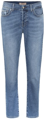 7 For All Mankind Asher mid-rise cropped jeans
