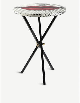 Fornasetti Lip print wood table