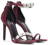 Calvin Klein Camelle embellished suede sandals