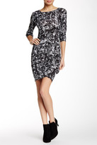 Loveappella Printed Long Sleeve Mini Dress