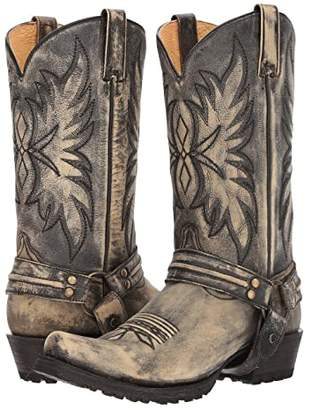 Roper Carson (Sanded Black Leather Vamp) Cowboy Boots