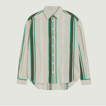 Closed Peony Aloise Striped Shirt - X Small