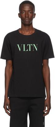 Valentino Black and Green VLTN T-Shirt