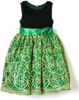 Green Sequin A-Line Dress - Infant Toddler & Girls