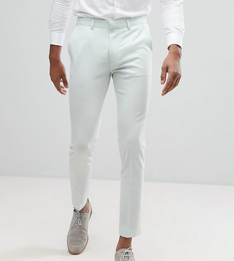 Asos Design DESIGN TALL Super Skinny Cropped Smart Trousers In Mint-Green