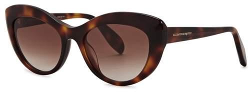 Alexander McQueen Tortoiseshell Cat-eye Sunglasses