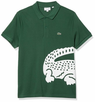 Lacoste Men's Short Sleeve Large Croc Animation Regular Fit Polo Shirt