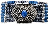 Jules B Blue and Black Six Row Stretch Bracelet