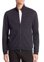 Giorgio Armani Full-Zip Reversible Print Jacket