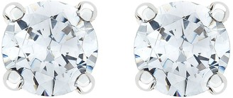 Love Diamond 9-Carat White Gold 50 Point Diamond Solitaire Earrings