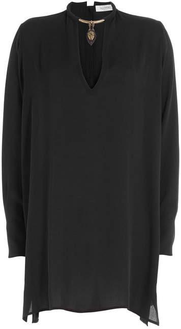 Valentino Embellished Silk Blouse