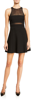 LIKELY Renee Illusion Fit-and-Flare Cocktail Dress