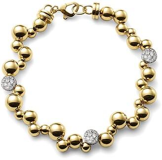 MARINA B 18kt yellow gold mini Atomo pave diamond bracelet