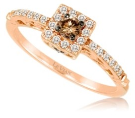 LeVian Chocolate Diamonds (1/6 ct. t.w.) and Vanilla Diamonds (1/6 ct. t.w.) Ring in 14k Rose Gold