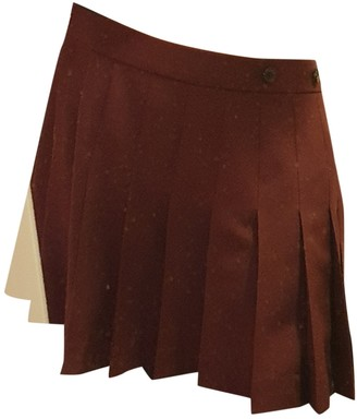 Calvin Klein Burgundy Skirt for Women