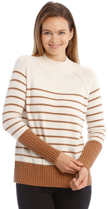Trent Nathan Stand Neck With Stripe Jumper
