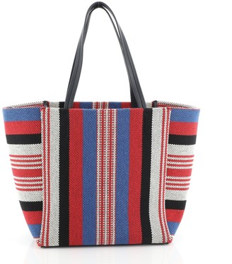 Celine Phantom Cabas Tote Woven Cotton Small