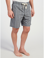 John Lewis Hook Check Lounge Shorts, Grey