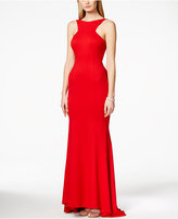 Xscape Evenings Open-Back Ruffled Gown