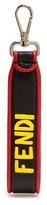 Fendi Fantasic Fendi-embellished Leather Key Ring