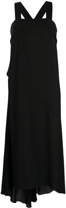 Isabel Benenato Asymmetric Hem Silk Dress
