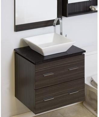 "American Imaginations 24"" Single Modern Wall Mount Bathroom Vanity Set Hardware Finish: Brushed Nickel"