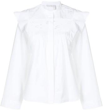 Chloé Pintucked Shirt