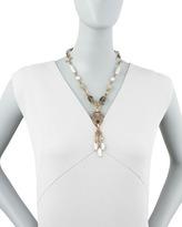 Stephen Dweck Pearl & Quartz Y-Drop Necklace