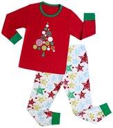 """Kidsmall """"Santa"""" Girls Boys Christmas Pajamas Baby Sleepwear"""