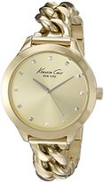 Kenneth Cole New York Women's 10027348 Genuine Diamond Analog Display Japanese Quartz Gold Watch