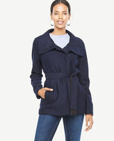 Ann Taylor Tall Boiled Wool Funnel Jacket