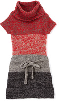 Pink Angel Red & Black Twist Tie-Waist Cowl Neck Dress - Girls