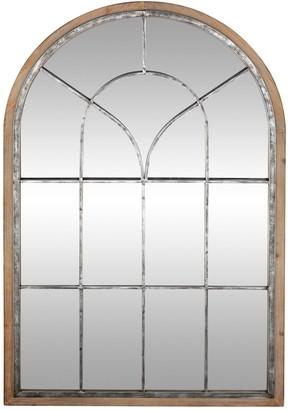 Uma Metal/Wood Wall Mirror