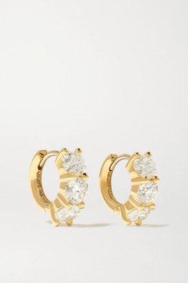 Melissa Kaye Sadie 18-karat Gold Diamond Earrings - one size