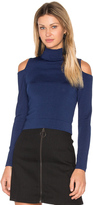 Central Park West Irving Place Cold Shoulder Crop Top
