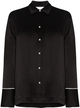 ASCENO The London silk pyjama top