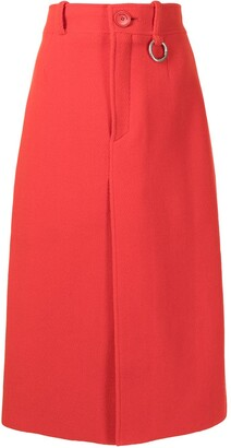 Balenciaga Pre-Owned Front-Slit High-Waisted Skirt