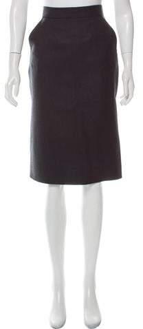 Fluted Tweed Skirt