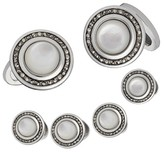 Jan Leslie Men's Mother-Of-Pearl Cuff Links & Shirt Stud Set