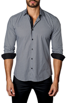 Jared Lang Cotton Dobby Check Button-Down Sportshirt