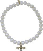 Sydney Evan Bee Freshwater Pearl Beaded Bracelet