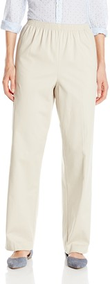 Alfred Dunner Women's Missy Proportioned Medium Twill Pant