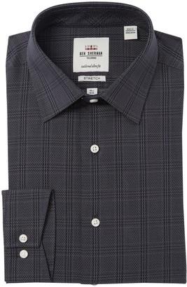 Ben Sherman Plaid Tailored Slim Fit Dress Shirt