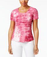 Karen Scott Print Ruffled Top, Created for Macy's