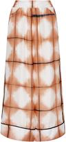 Thakoon Grid Dye Silk Culottes