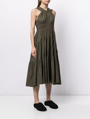 Proenza Schouler Tiered Halterneck Dress